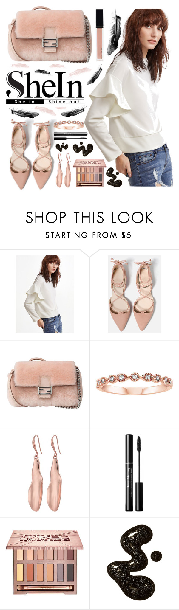 """""""🔝Sweatshirt🔝"""" by sanela-enter ❤ liked on Polyvore featuring Fendi, Robert Lee Morris, Urban Decay and Witchery"""