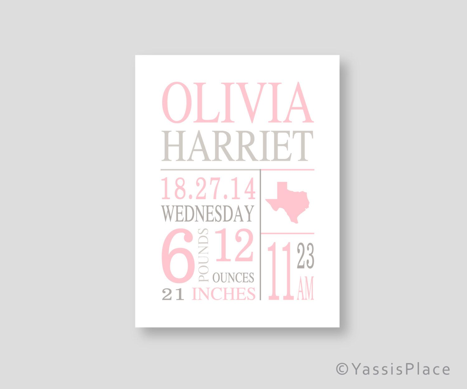 Canvas birth stats wall art baby girl pink nursery art pink gray canvas birth stats wall art baby girl pink nursery art pink gray birth announcement personalized baby negle Gallery