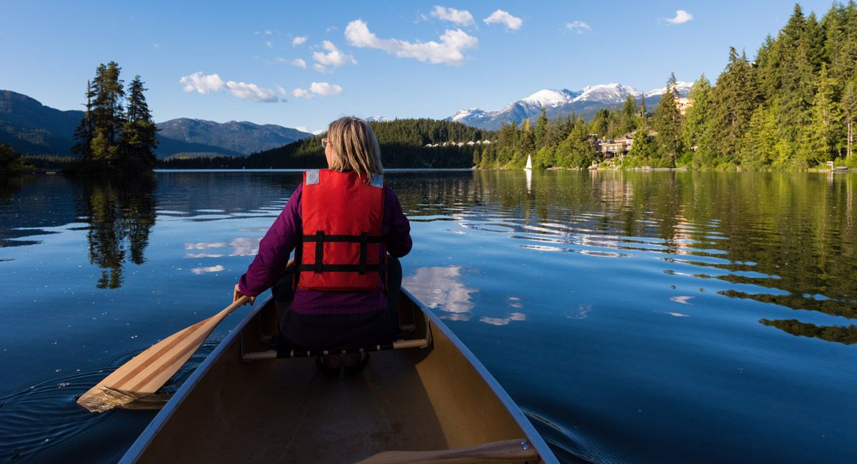 Explore whistlers waterways with stand up paddleboard