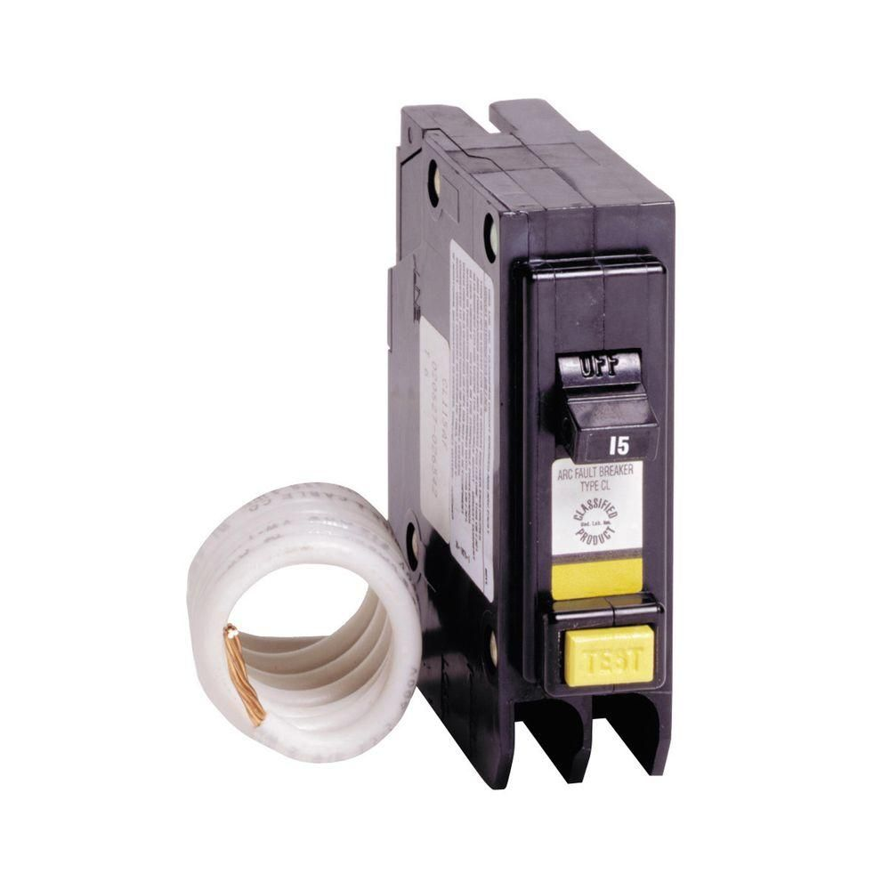 15 Amp 1 In Single Pole Arc Fault Type Cl Circuit Breaker Products Interrupters Afcis Eatons Interrupter Afci Breakers Provide Protection From Fires Caused By Arcing Faults Can Occur When