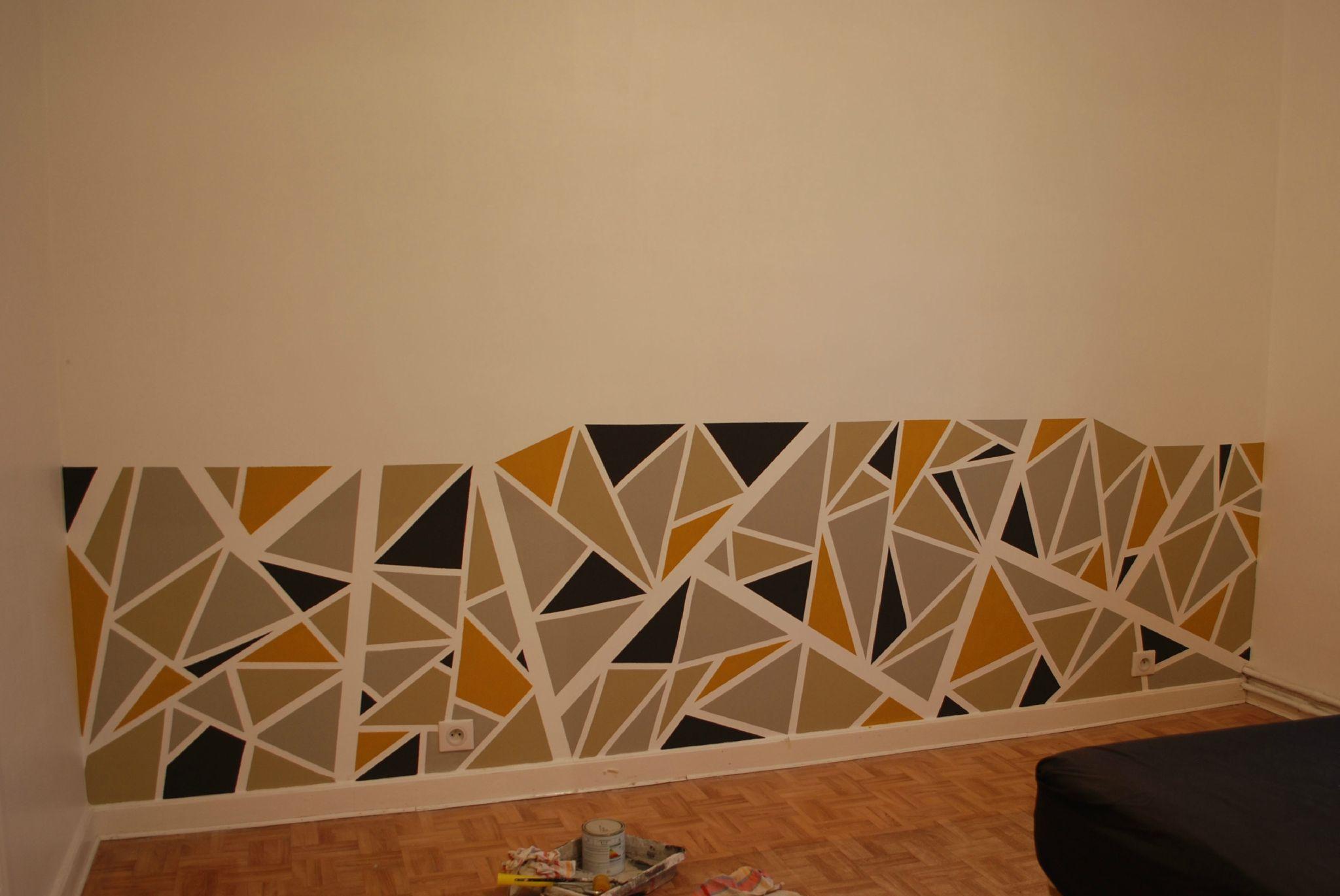 peindre motifs g om triques sur mur recherche google. Black Bedroom Furniture Sets. Home Design Ideas