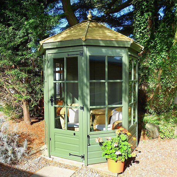Small hexagonal summer house go to chinesefurnitureshop for Garden design ideas with summer house