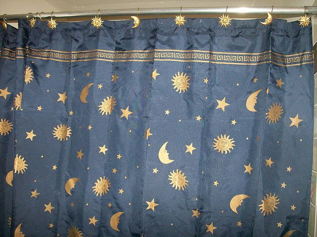 Sun Moon Stars Shower Curtain With Images Shower Curtain Curtains