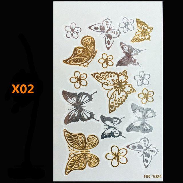 Schmetterling gold metall henna tattoo flash gold temporäre tattoo mann fake tattoo largeglitter tattoo welle als kunst