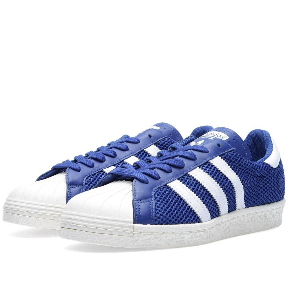 Adidas Superstar 80s (True Blue & Running White)