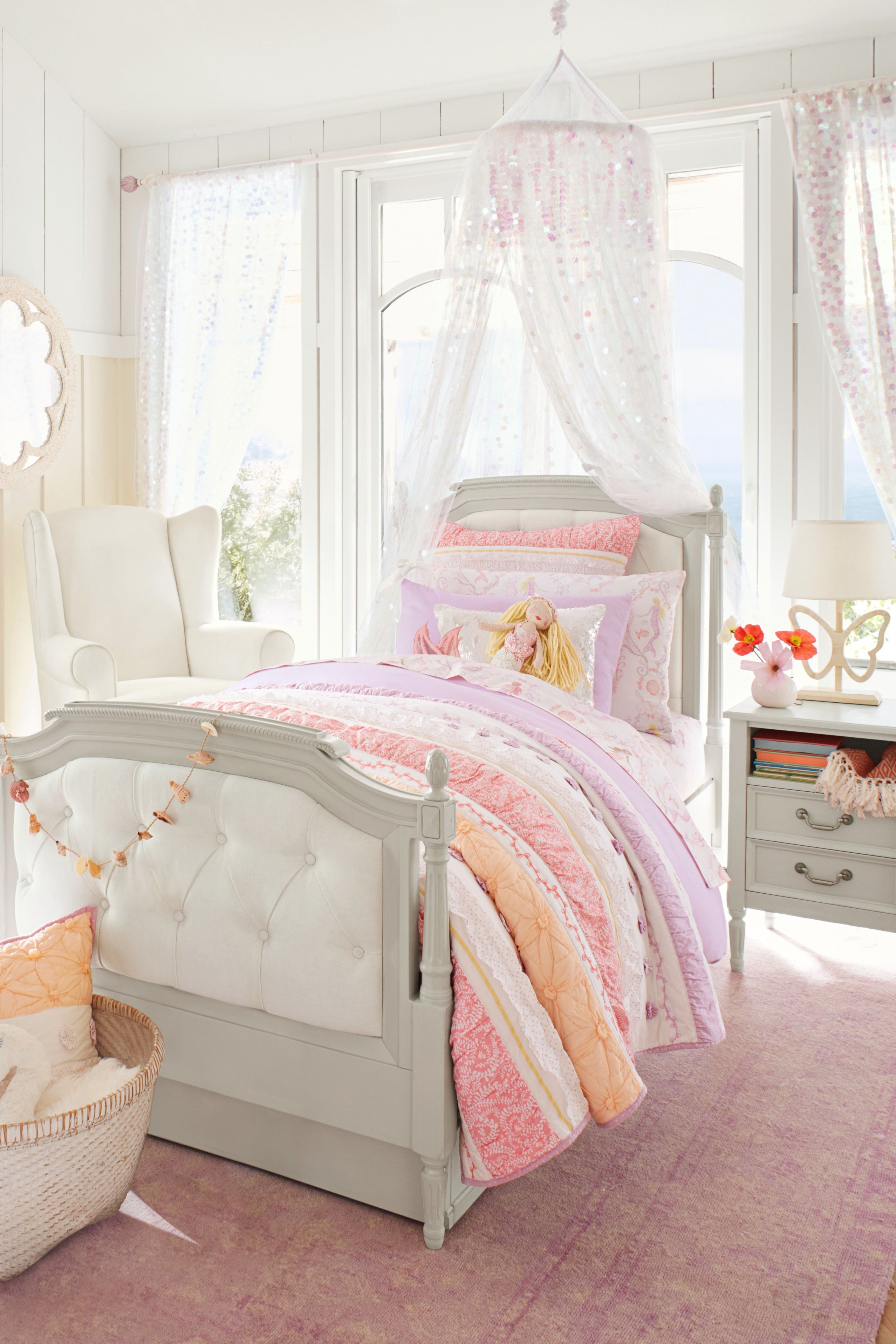 Bailey Ruffle Reversible Quilt Pink