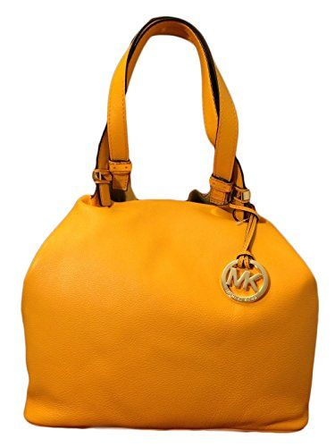 ce138b037d4c Women's Shoulder Bags - Michael Kors Colgate Large Grab Bag in Reversible  Sun Yellow Leather Suede -- See this great product.