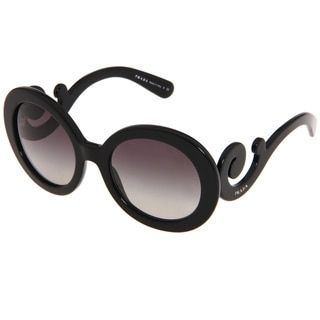 2ce8c0754d43 ... new zealand prada womens pr 27ns black minimal baroque round sunglasses  ff326 1800f