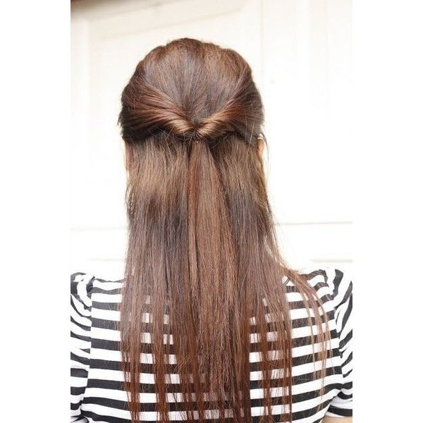 Cute Hairstyles for Long Straight Hair ❤ liked on Polyvore ...