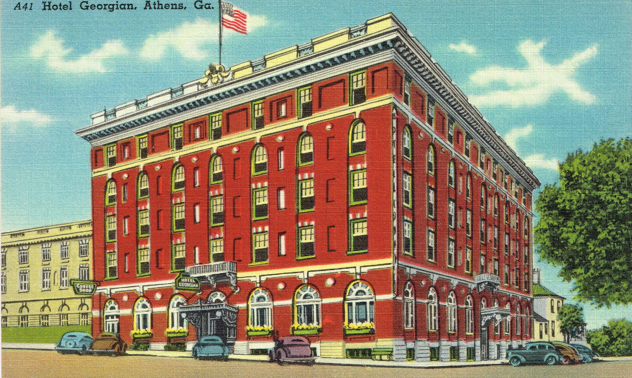 Georgian Hotel Athens Georgia Postcard