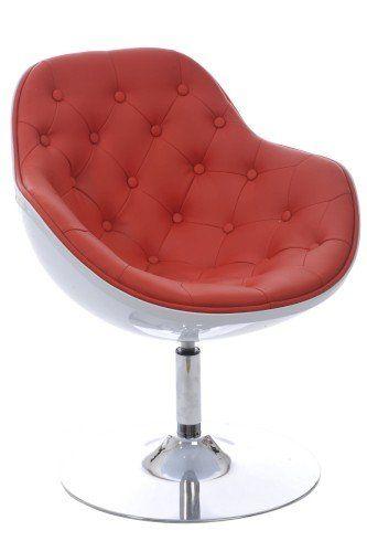 Vintage Bureaustoel De Wit.Duverger Selection Vintage Design Zetel Rood Simili Wit Polyester