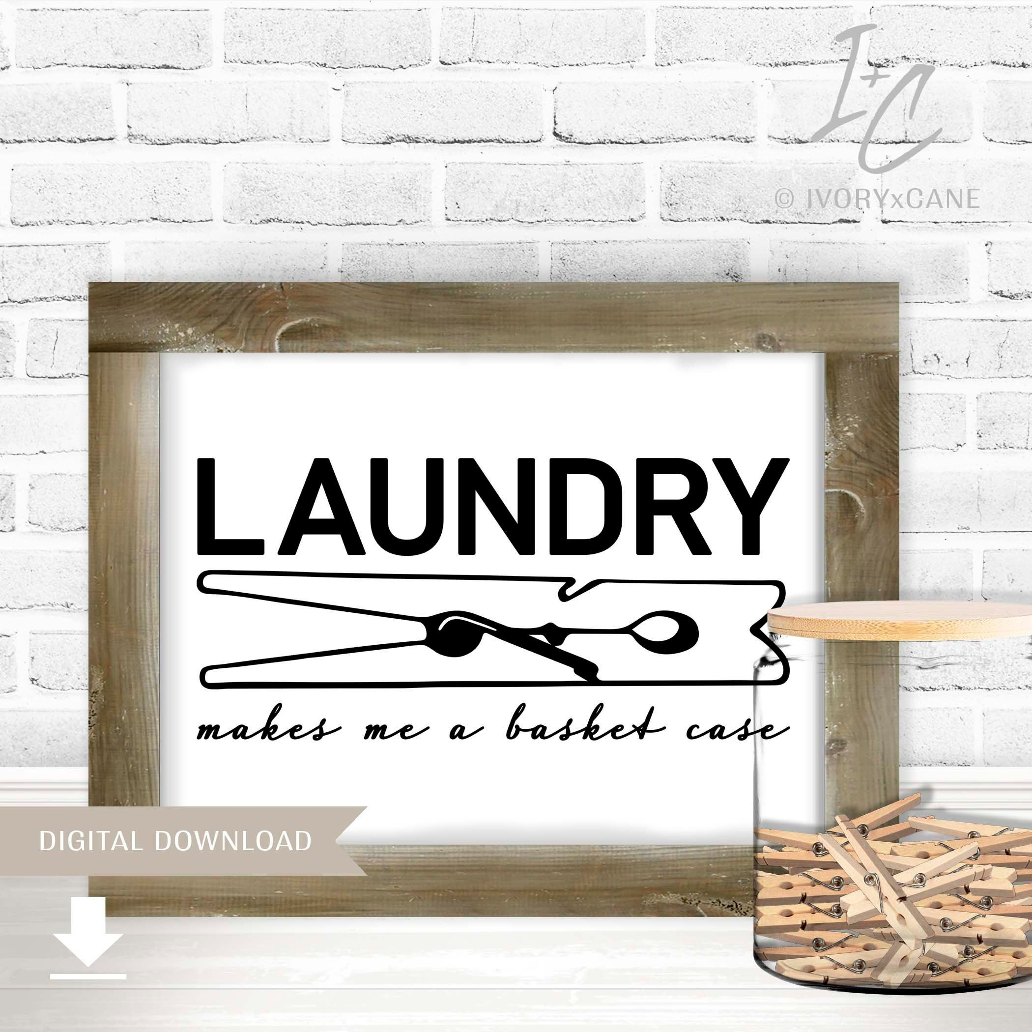 Printable Wall Art, Laundry Printable, Laundry Sign, Laundry Humor, Laundry Decor, Laundry Room Print, DIY Decor, Laundry Wall Art #laundrysigns
