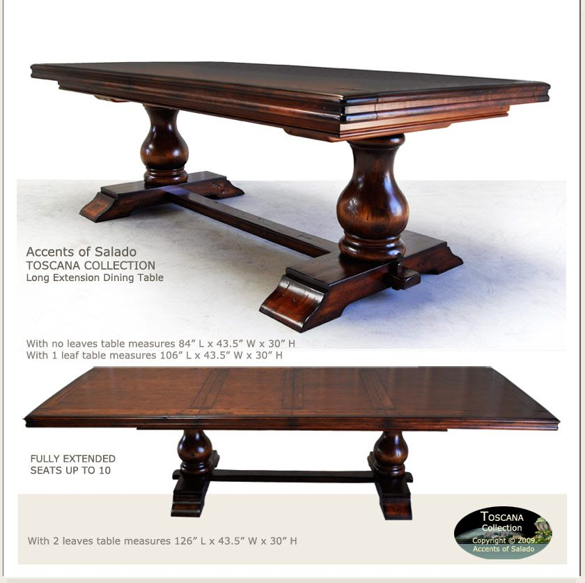 Tuscan Dining Table Extra Long Toscana