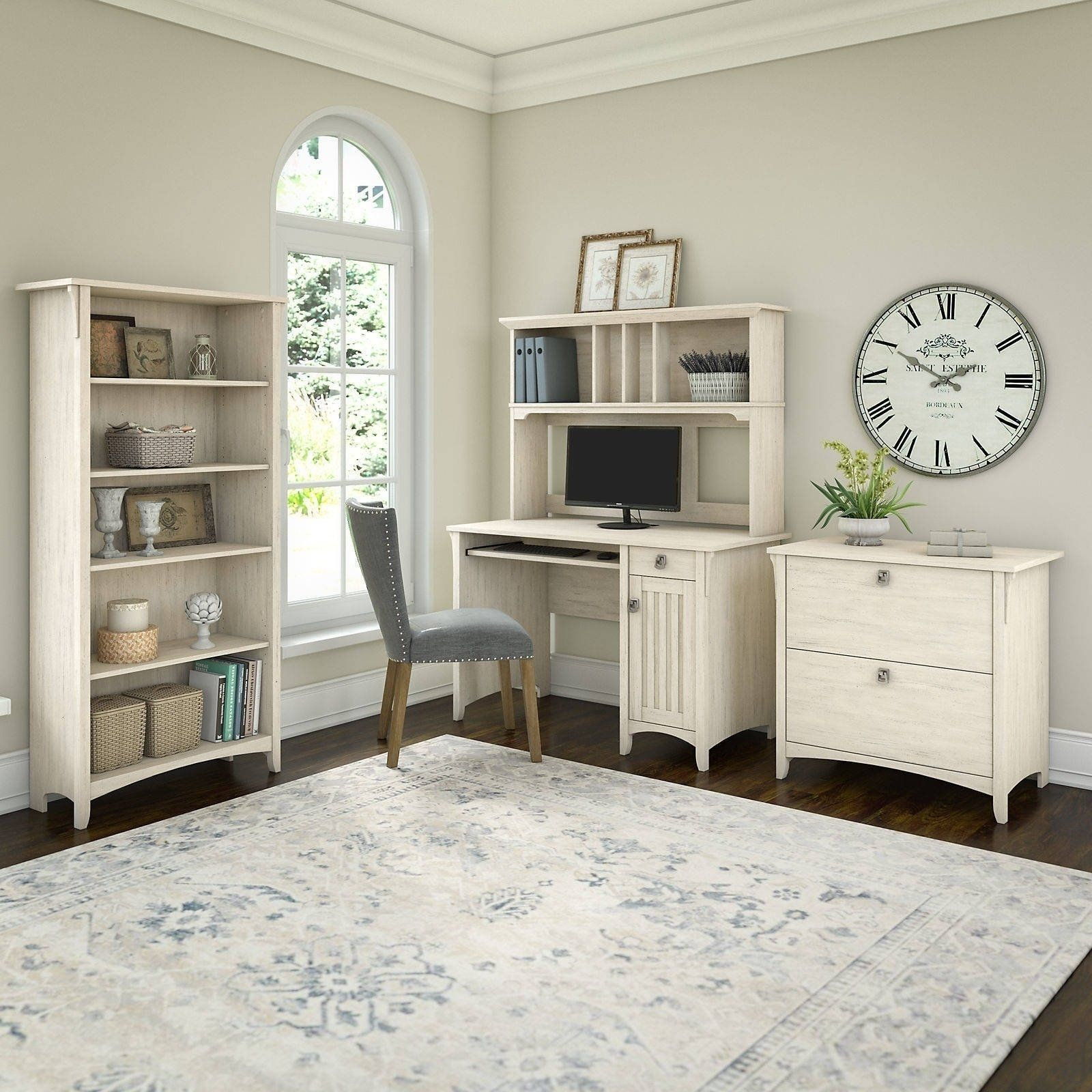 Maison Rouge Lucius Mission Desk With Hutch Lateral File