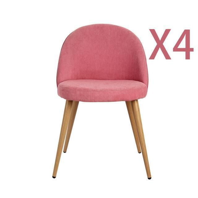 4 Pieces Per Set Pink/White Metal Legs Armless Chair Dining Chair Side Chair  Home