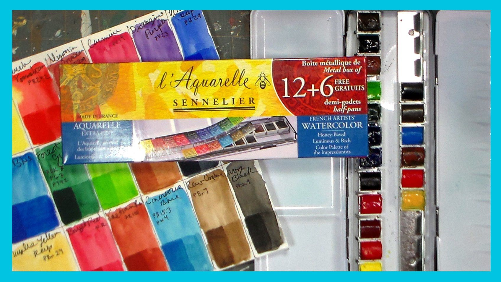 Sennelier L Aquarelle Watercolor Review Watercolor Branding The