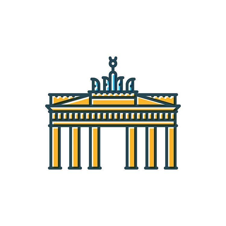 Berlin Brandenburger Tor Symbolicities Symbolicberlin Symbol City Berlin Ilustracoes Berlim Desenhos