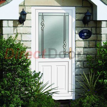 Image of External UPVC Dundee Half Panel - Crystalline Glass Door & External UPVC Dundee Half Panel - Crystalline Glass Door | Dundee ...