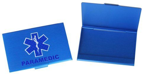 Paramedic sol blue business card case rescuetees cool ems stuff paramedic sol blue business card case rescuetees colourmoves Image collections