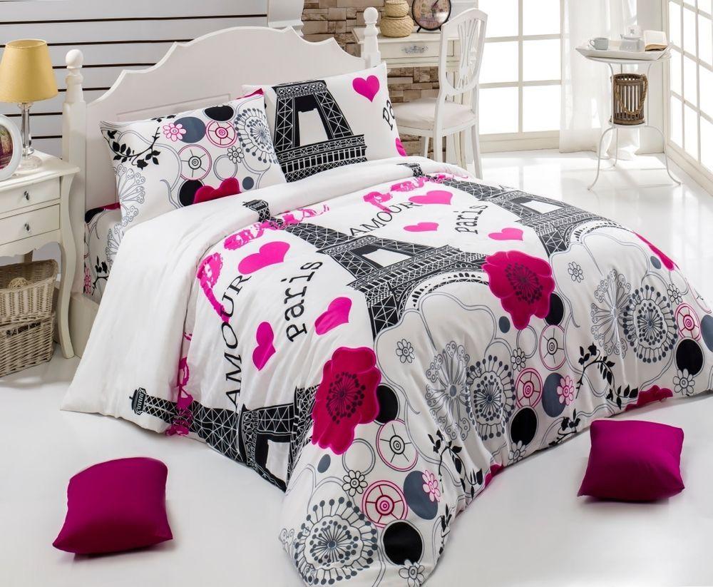 amour paris eiffel tower bedding set quiltduvet cover set twinqueen parisienne in. Interior Design Ideas. Home Design Ideas