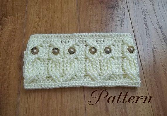 Crochet Pattern-Its a Hoot, An Owl Headband and Earwarmer   Crochet ...