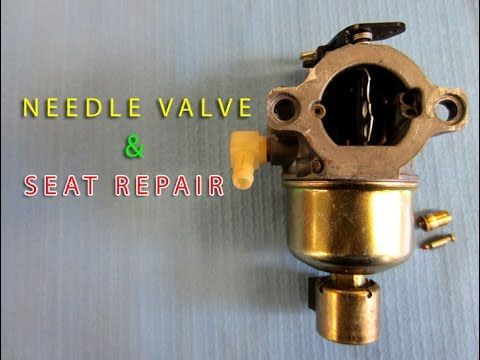 Needle Valve Seat Replacement On Lawn Tractor Carburetor With Briggs Stratton Engine Lawn Mower Repair Repair Lawn Tractor