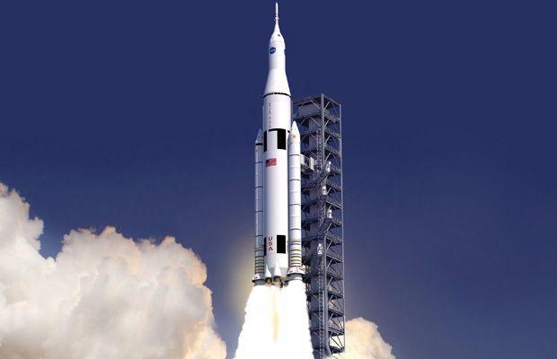 NASA's Space Launch System (SLS) 1st Flight ~17 December 2017. http://www.aerospaceguide.net/spacerocket/space-launch-system.html #space #nasa