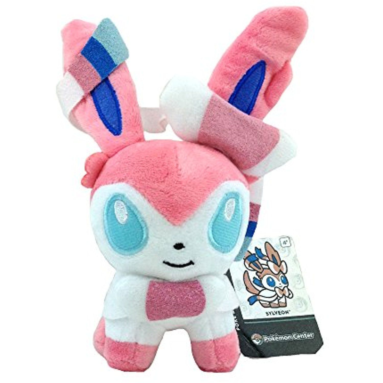 Nymphia Plush Doll Stuffed Animal Soft Figure Kids Toy Gift Pokemon Sylveon