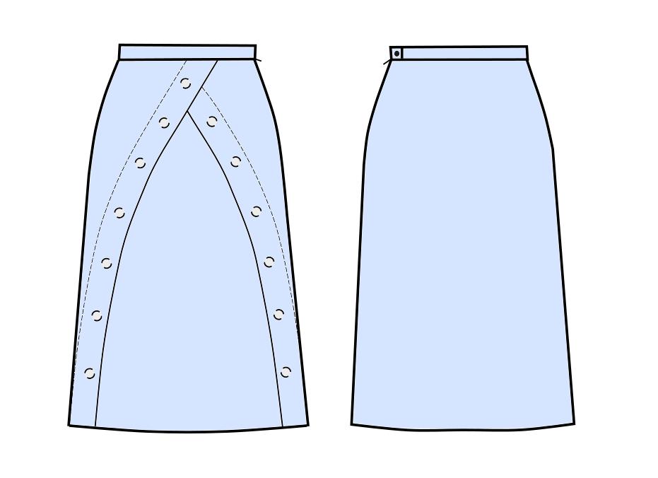 A-Line Skirt - Schnittmuster #S3020 Maßgeschneiderte Schnittmuster ...