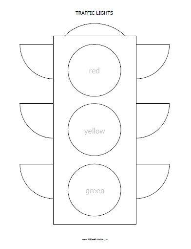 объемный светофор из бумаги своими руками схемы шаблоны