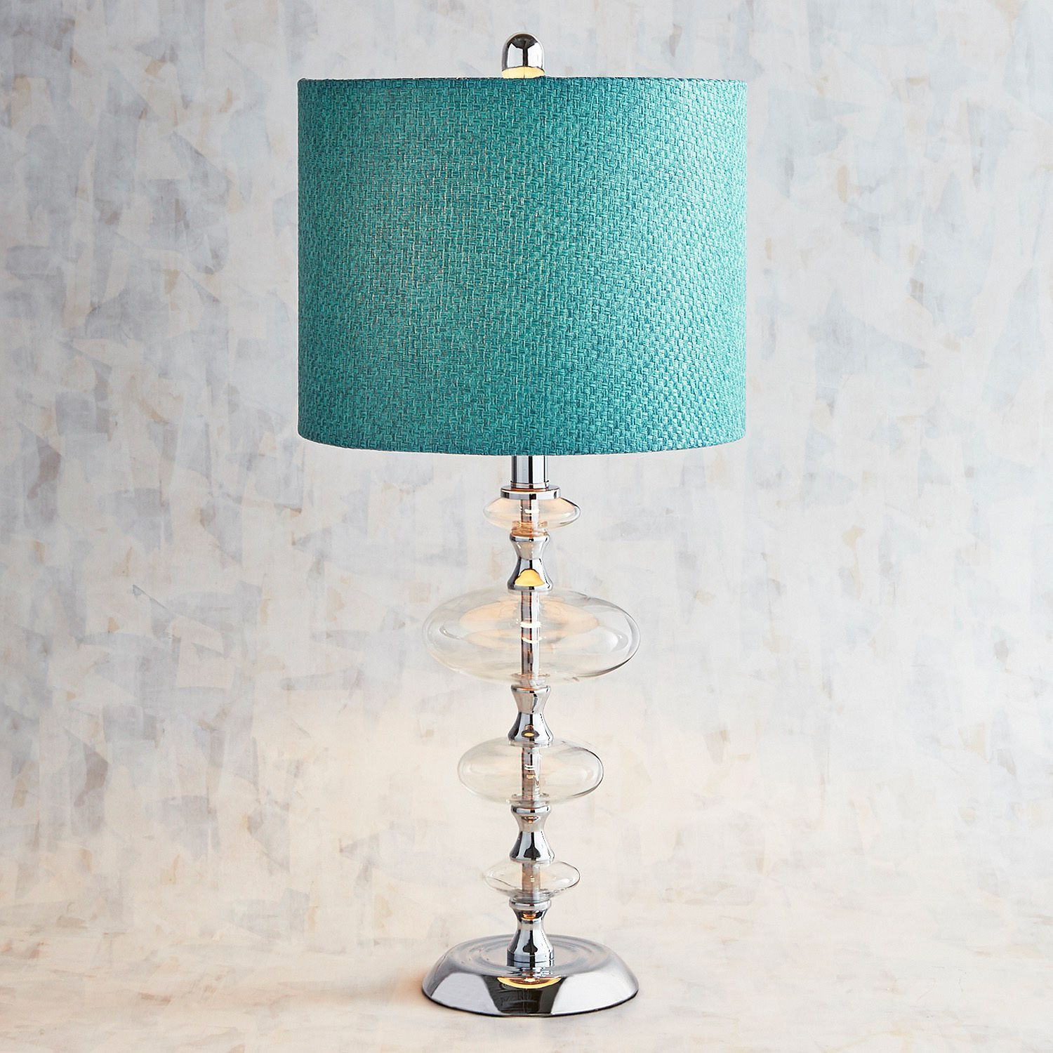 Teal marine glass bubble table lamp products teal marine glass bubble table lamp geotapseo Image collections