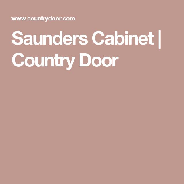 Doors · Saunders Cabinet ...
