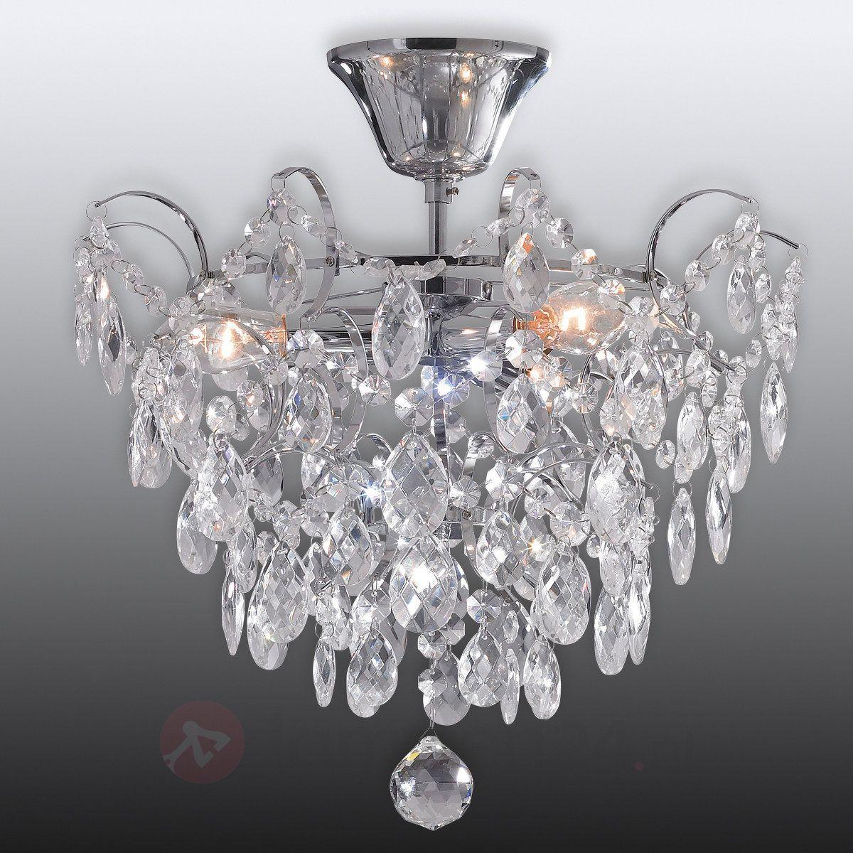 Plafondlamp Rosendal Ø 36 cm chroom | Plafondlamp