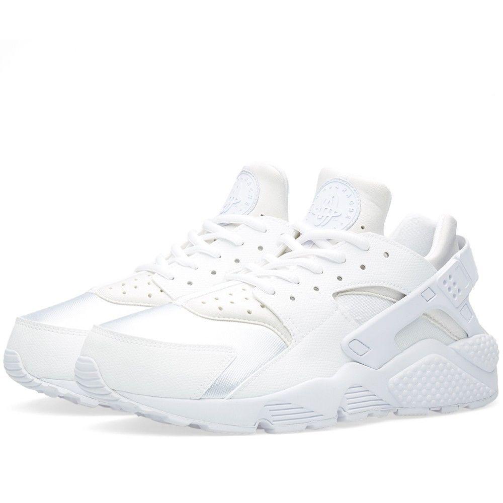 57e17340cc6a 634835-108 Wmns Nike Air Huarache Run Triple White Women Running Sneakers  Shoes