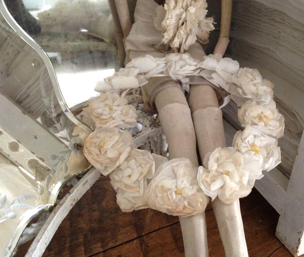Antiker Brautschmuck, Brautkranz, Braut Hochzeit Vintage Frankreich Shabby Deko