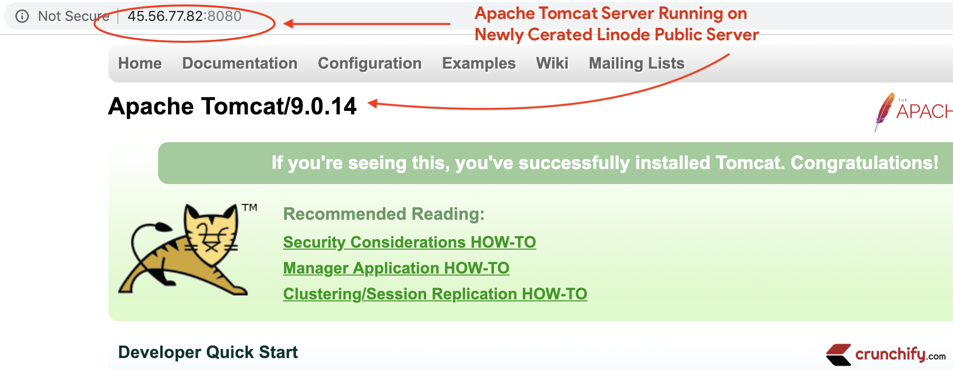 how to install apache tomcat server in linux
