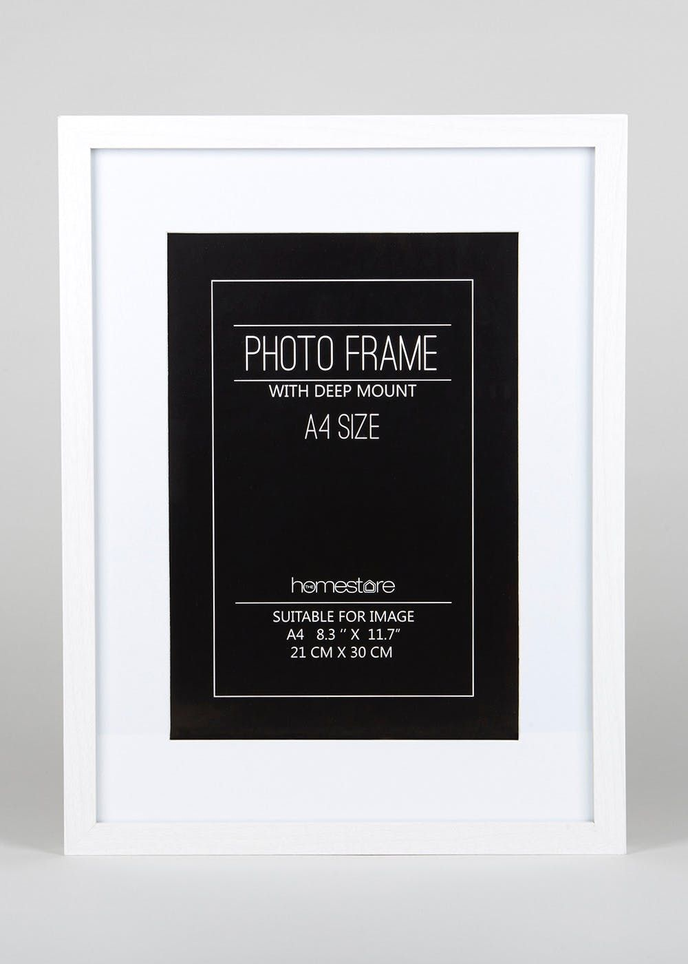 Deep Mount A4 Block Photo Frame 42cm X 32cm White Photo Frame Frame White Frame