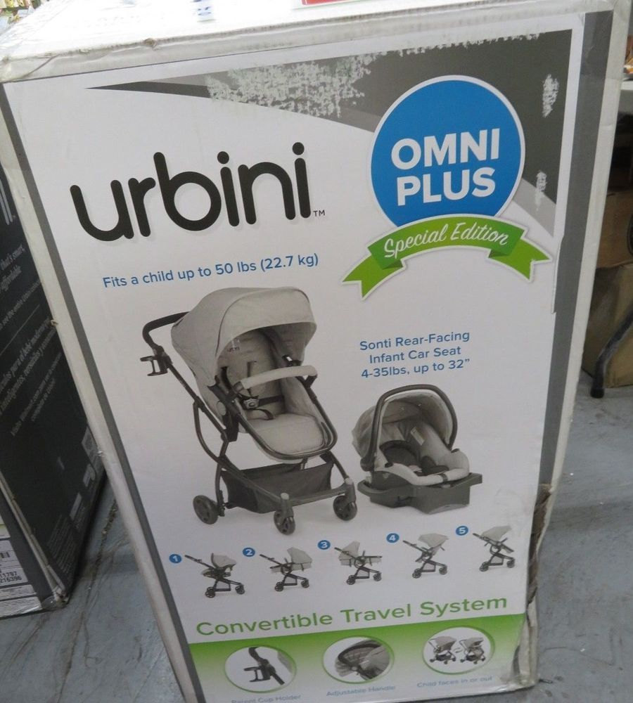 Stroller Car Seat Baby Urbini Omni Plus 3 in 1 Travel System Special Edition New