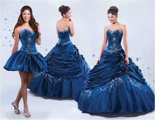 1ee9014ea Tu Vestido de 15 Años  Vestidos de 15 Años- 2015- En Color Azul -Desmont.