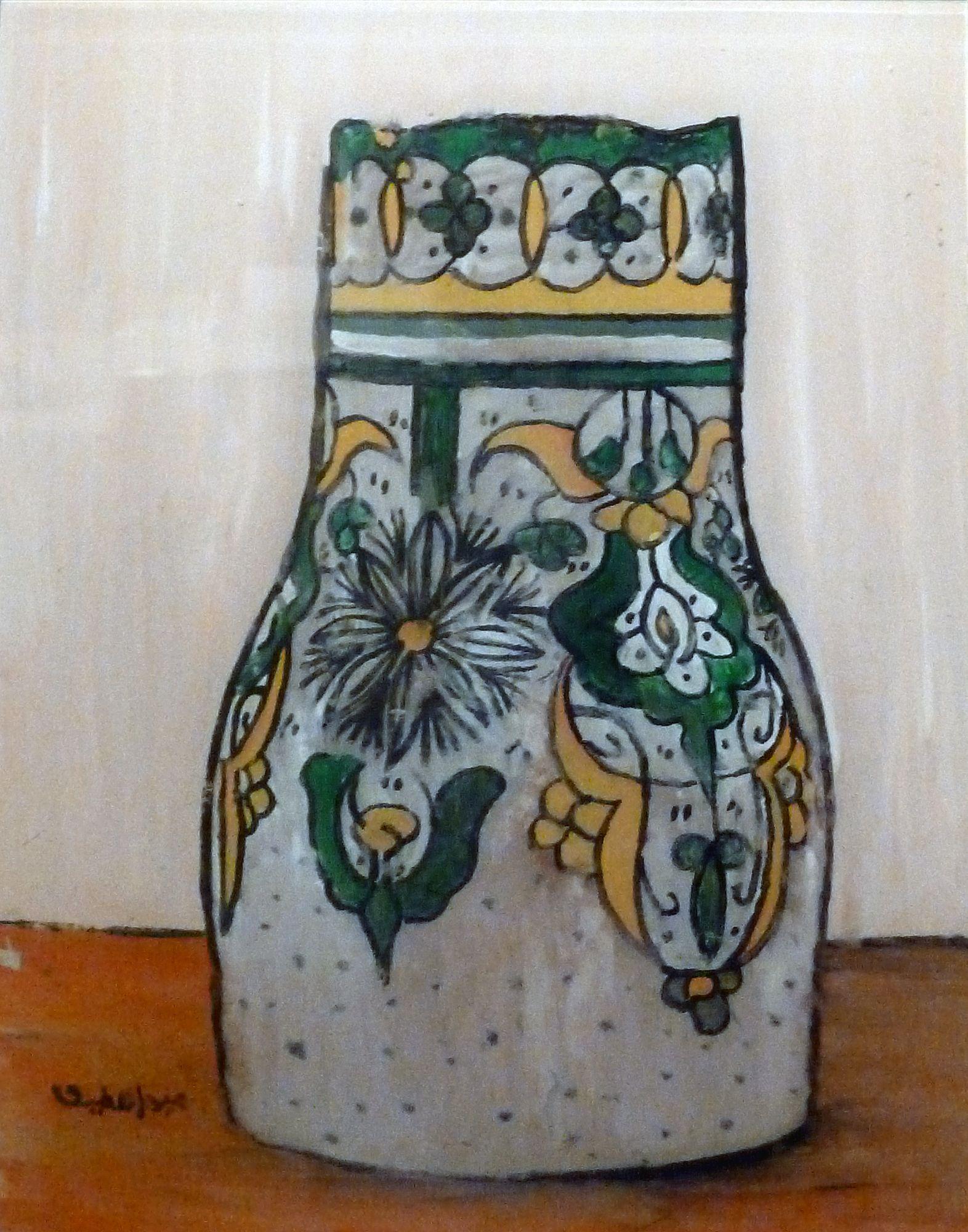 Abdellatif Ben Najem. peinture sur verre. Tanger. galerie Conil