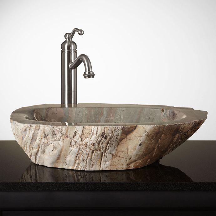 Small Home Design Ideas Com: Unique Bathroom Natural Stone Sinks