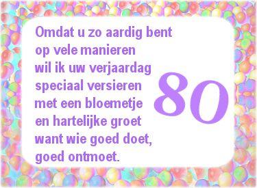 Mooie Verjaardagswens 80ste Verjaardag Verjaardag 80 Jaar
