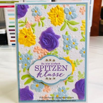 8b749e6ba963e2 Stampin mit Scraproomboom: Das Gratis-Geschenk - Tiefen-Prägeform Feldblumen