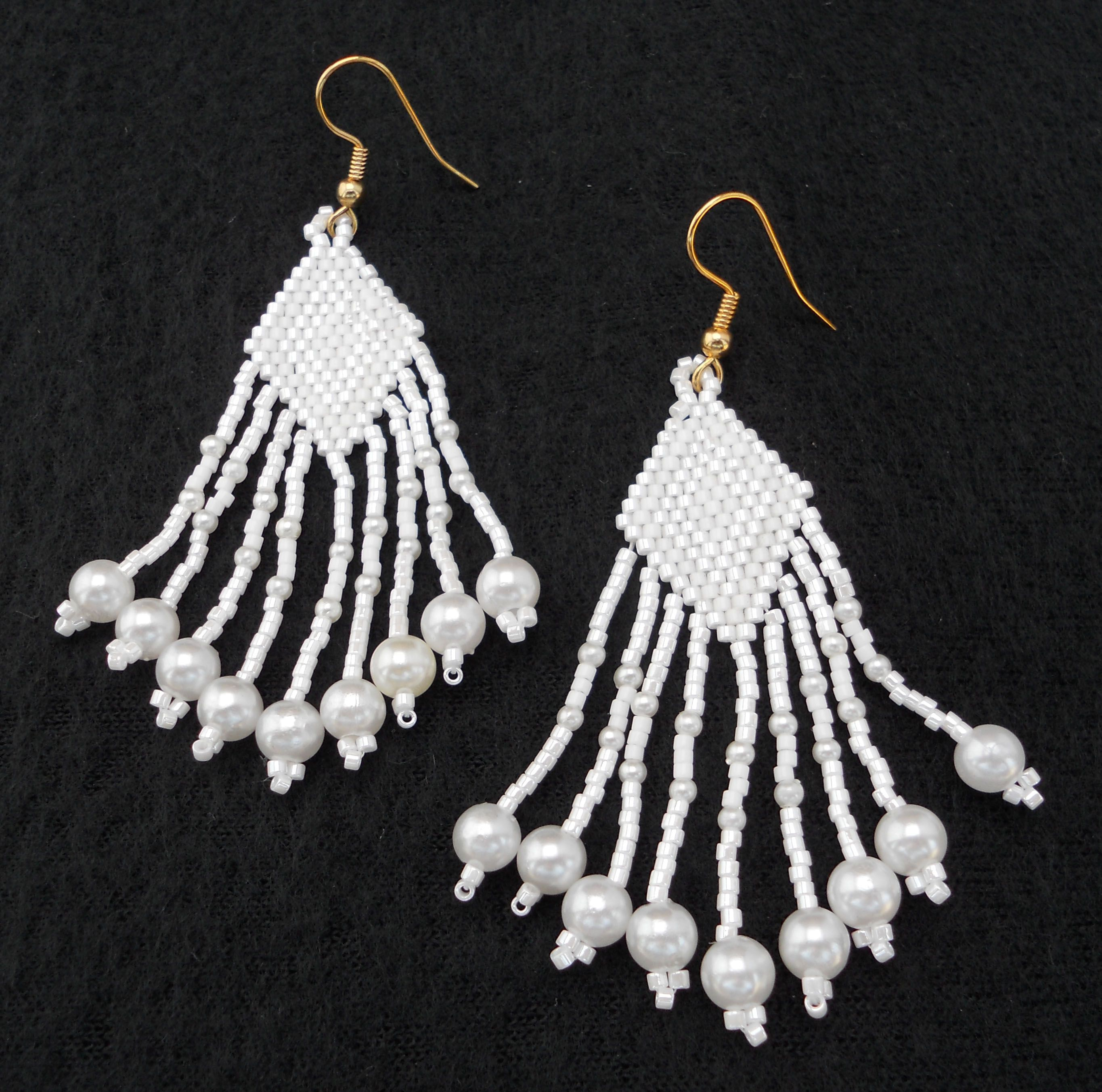 accessory earrings pin with for less bead white the these get look beaded