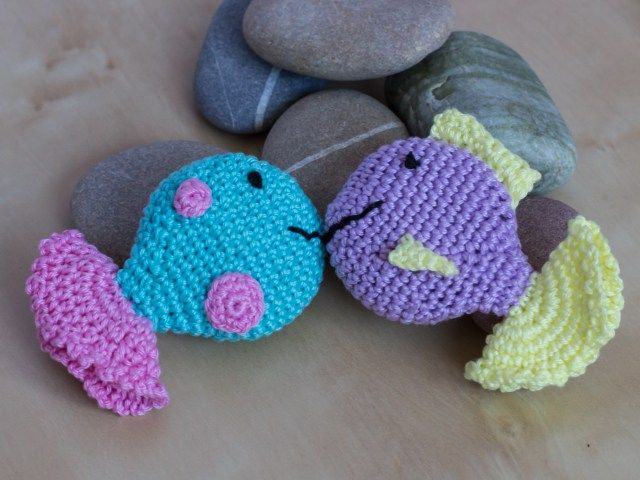 Crocheted Fish Squeaker A Free Pattern Crochet Want To Make