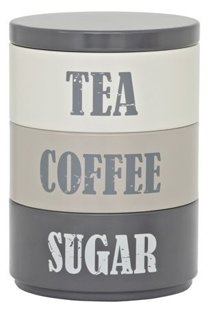 Stacking Tins From The Next Uk Online Great For Small Monochrome Stack Of Tea Coffee And Sugar