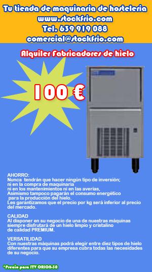 stockfrio.com: ALQUILER DE FABRICADORES DE HIELO - STOCKFRIO