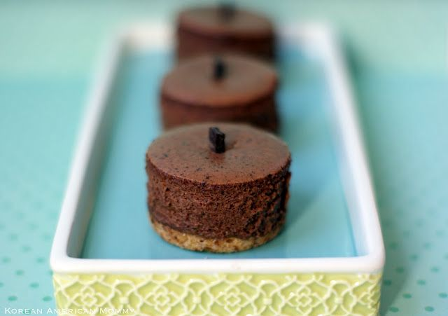 Dark Chocolate Créme Fraîche Pretzel Crust Mini Cheesecake