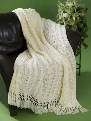 With a combination of crochet cable stitch and popcorn stitch, this ...
