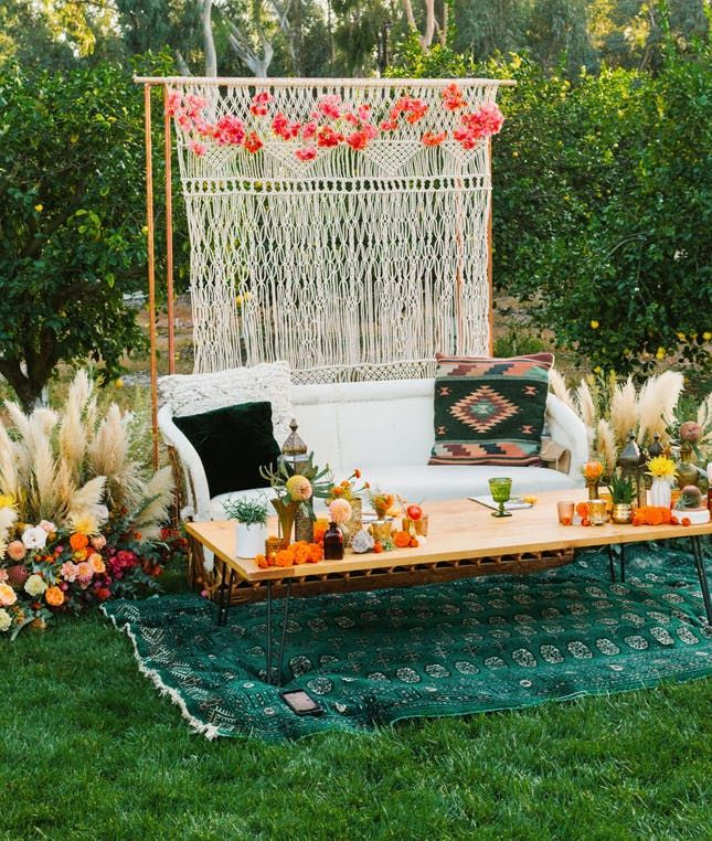 Bohemian Wedding Reception: Beautiful Boho Decor Ideas For Your Backyard Wedding